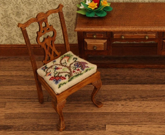 1 12 Dining Chair Kit Needlepoint Embroidery Tree Of Life