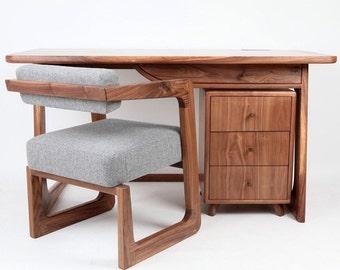 Tom Vousden designed James desk, hand made from American Black Walnut