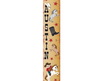 Personalized Cowboy Growth Chart