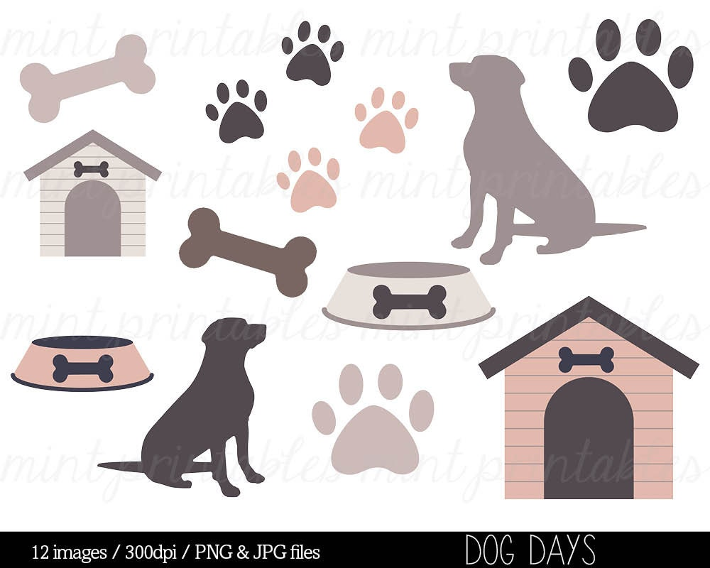 Dog Clipart Clip Art Animal clipart Dog Silhouette Puppy