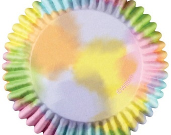 Watercolor ColorCups Wilton Greaseproof Cupcake Liners Baking Cups Muffin Cups