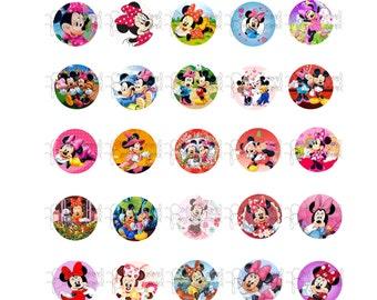 Minnie Mouse Bottle Cap Images, 30 digital images