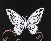 Happy Birthday Card with White Butterfly