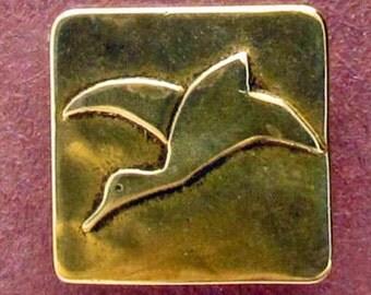 Kari Solitary Goose - Shank Button - B518