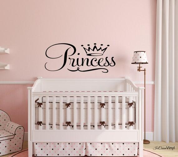 Princess Wall Decal Nursery Wall Art Children's Decor -Baby Room- Vinyl Lettering Girls Room