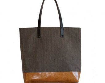 MMARJORIE Marketbag w/ leather