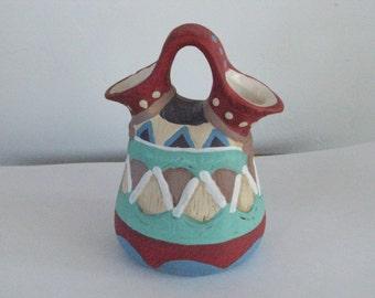 A Set of Four (4) Decorative Glazed Clay Pots