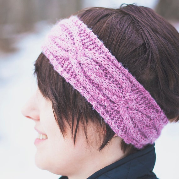 4 Headband Knitting Patterns Chunky and Worsted Cabled and ...
