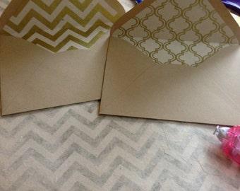 Chevron & Moroccan Envelope Lining