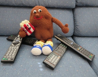Bud-the-Spud Crochet Couch Potato Doll