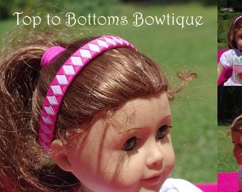 """18"""" Doll Woven Headband"""