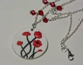 Poppy necklace - HaleysClayations