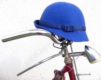 Royal Blue Cloche Hat
