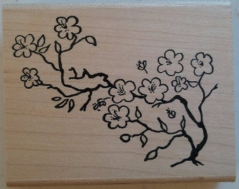 Cherry Blossoms Rubber Stamp - 17F04