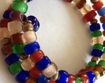 A Mediterranean Summer - One Size Memory Wire Bracelet