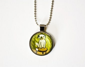 cute PUG NECKLACE, unique pug gifts for girls, pug christmas gifts pug jewelry pug pendant pug lover gifts, pug dog lover gift fawn pug gift