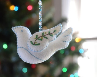 Peace Dove Ornament PDF PATTERN