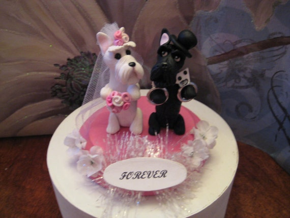scottish terrier wedding cake toppers custom order for by pawsnclaws on etsy 19692