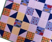 Flannel Baby Boy Quilt - Discounted - GloryQuilts