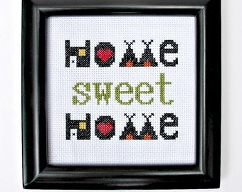 home sweet home cross-stitch pattern