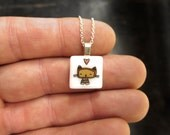 Tabby Cat Necklace