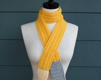 Crochet Scarf Pattern, Back to School, Pencil