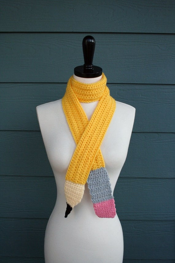 Knitting Pattern For Pencil Scarf : Pencil Scarf Crochet Scarf Pattern PDF Made In USA by ...