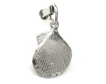 Sterling Silver Scallop Sea Shell Charm Pendant N22 Clearance