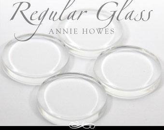 round clear glass cabochons 1 in clear circle glass tiles. Regular Flat Clear Glass Tiles for Pendants and Magnets. 25 Pack-UB. Annie Howes