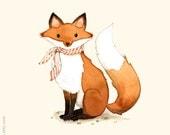 Fox print, Fox painting, Fox illustration, alphabet animals, Nursery wall art, animal alphabet print, forest animal, woodland wall art