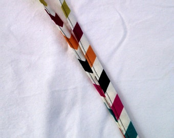 Multicolor Striped Lanyard