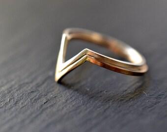 "Silver triangle , geometric ring, peak ring ""Open Monuntain"""