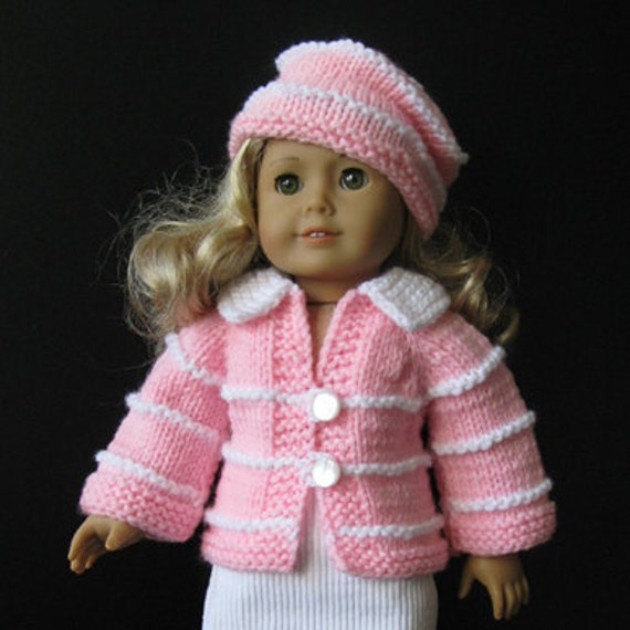 knitting pattern fits AMERICAN GIRL 18 inch Doll BEGINNER level (04)