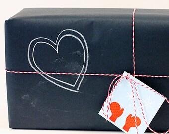 Chalkboard Kraft Paper Roll - Black - Gift Wrap / Crafts / Table Runner