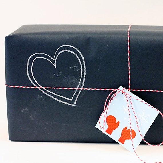chalkboard kraft paper roll black gift wrap crafts. Black Bedroom Furniture Sets. Home Design Ideas