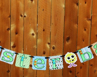 Monster Bash Halloween Birthday Party Banner