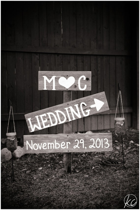 Rustic Wedding Signs Barn Wood Signs Photo Props By TRUECONNECTION