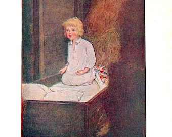 At The Back of the North Wind - 1909 Childrens Story Book Illustration