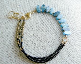 Beaded Layering Bracelet- Golden