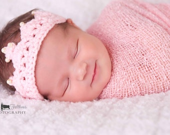 Crochet baby crowns, Best selling items, Newborn princess crown photo prop, First birthday princess crown,  Top Seller,  Newborn baby crown