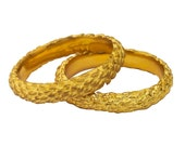 Wide Gold Band in 18K Gold - Wheat Design  -  Modified from Central Park Weeds and Handmade in New York City