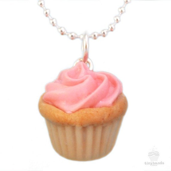 Items similar to food necklace scented pink cupcake for How to make scented jewelry