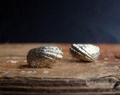 Angel Wings Mermaid Sea Shell Stud Earrings Sterling Silver