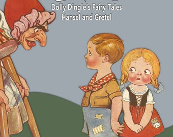 Printable Vintage Paper Doll Dolly Dingle Fairy Tales Hansel and Gretel Instant Download