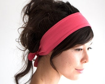 SALE // Hot Pink Tie Back Headscarf