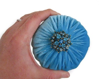 "4"" Aqua Emery Pincushion / Pin Cushion"
