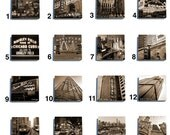 Chicago Stone Coaster Tile Set - Pick any four images - 16 to choose from