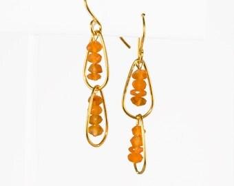 Carnelian and 22k Gold Vermeil earrings