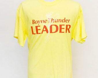 Men's T-Shirt / Vintage Upcycled Boyne Thunder Tee Shirt with Screen Printed Tree / Size Large