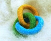 FREE US Shipping--Domestic Wool Felt GNOT Teether--Sailboat Colors